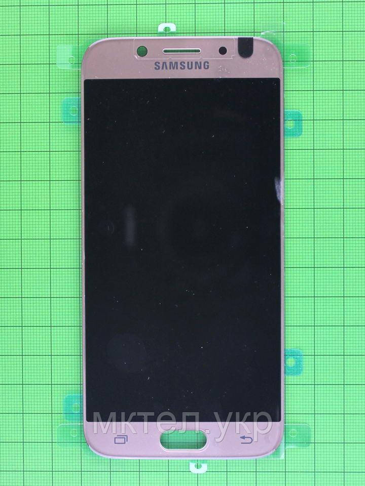 Дисплей Samsung Galaxy J5 2017 J530 с сенсором, золотистый Оригинал #GH97-20738C