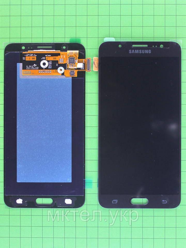 Дисплей Samsung Galaxy J7 J710F с сенсором, черный Оригинал OEM #GH97-18855B