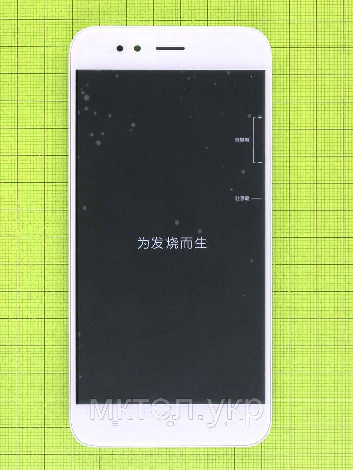Дисплей Xiaomi Mi A1 с сенсором, панелью, белый Оригинал