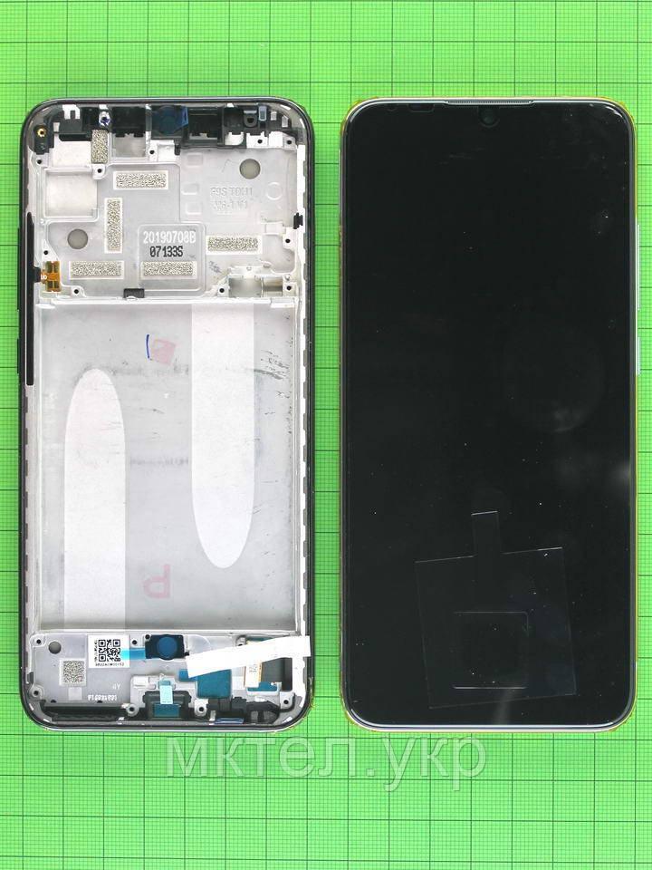 Дисплей Xiaomi Mi A3 с сенсором, панелью, белый Оригинал #5603100090B6
