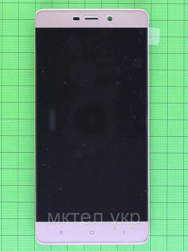 Дисплей Xiaomi Redmi 4 Pro с сенсором, панелью, золотистый, Оригинал