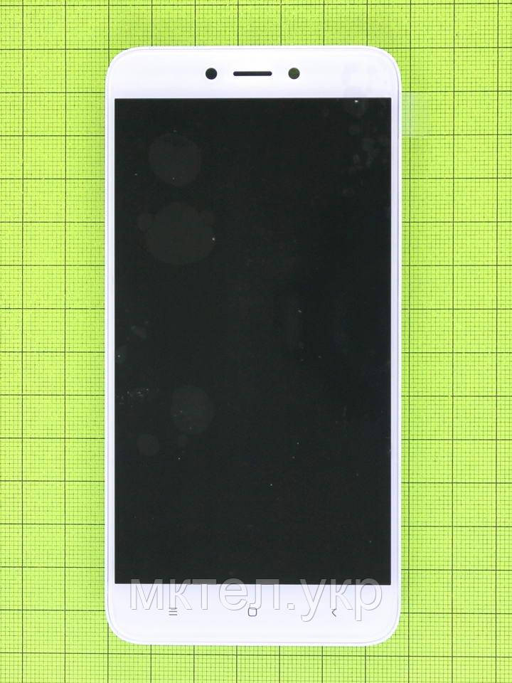 Дисплей Xiaomi Redmi 4X с сенсором, корпусом, белый Оригинал OEM #560420003033