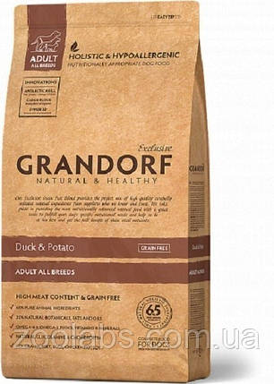 Корм Grandorf для собак усіх порід з качкою   Grandorf Duck & Potato Adult All Breeds 12 кг, фото 2
