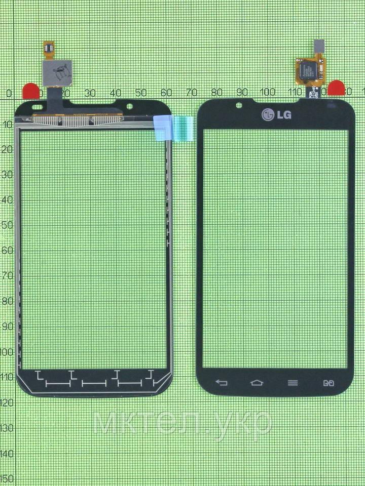 Сенсор LG Optimus L7 II Dual P715, черный self-welded