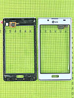 Сенсор LG P700 Optimus L7 с панелью, белый self-welded