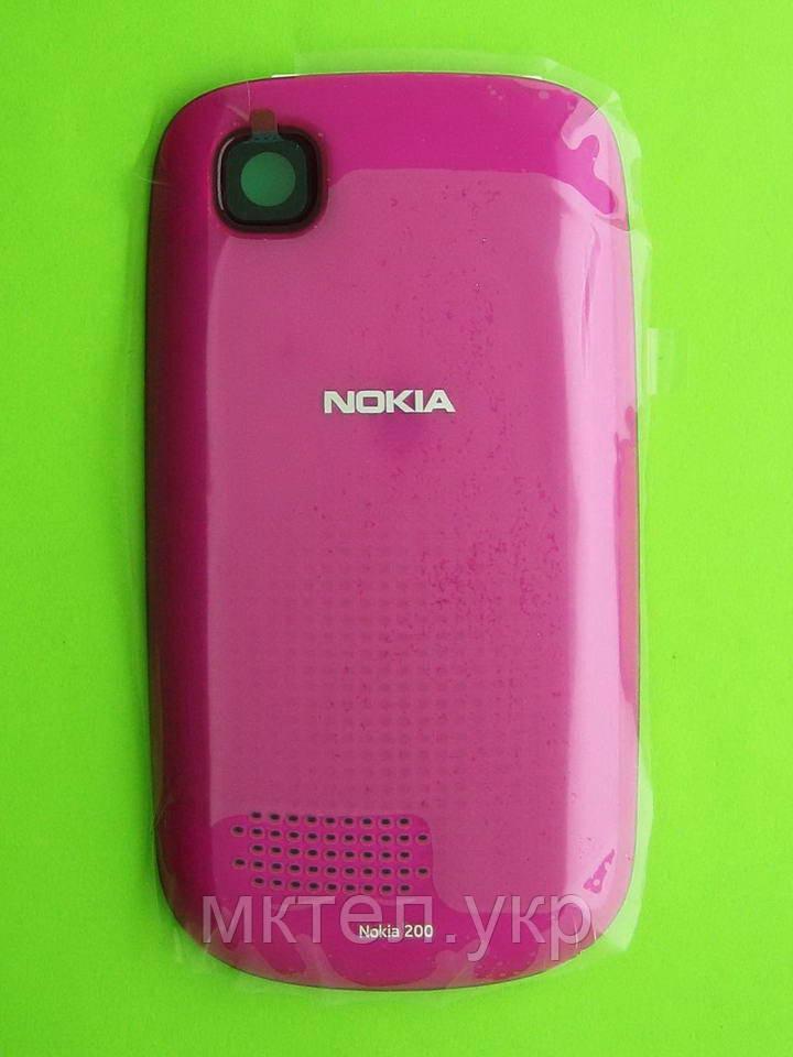 Крышка батареи Nokia Asha 200, розовый Оригинал #0258878