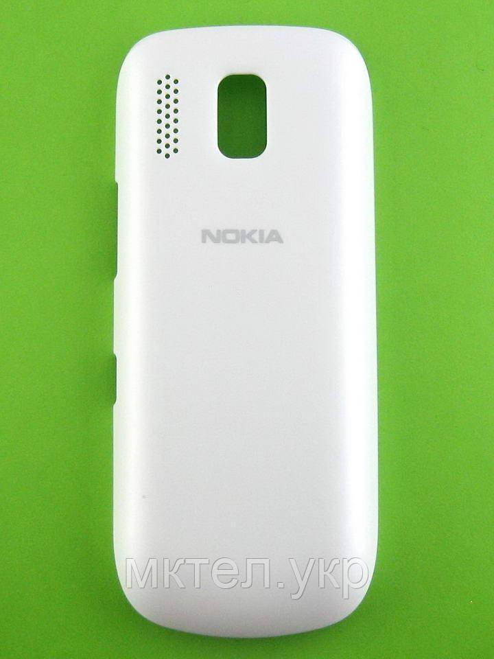 Крышка батареи Nokia Asha 203, белый Оригинал #9447724