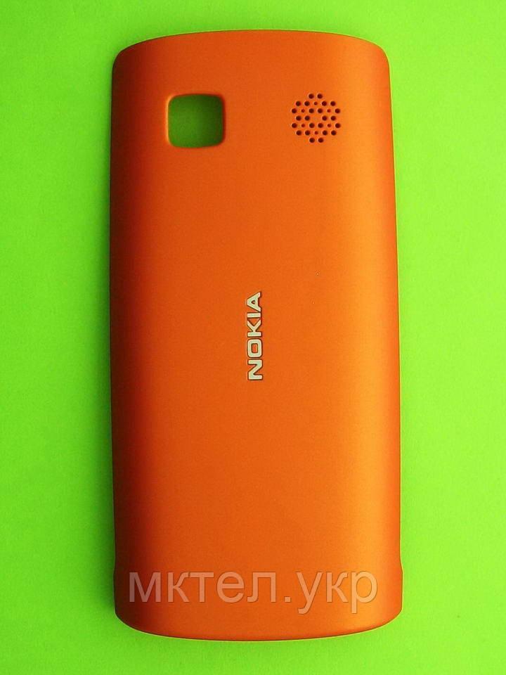Крышка батареи Nokia Asha 500 Dual SIM, оранжевый Оригинал #0258972