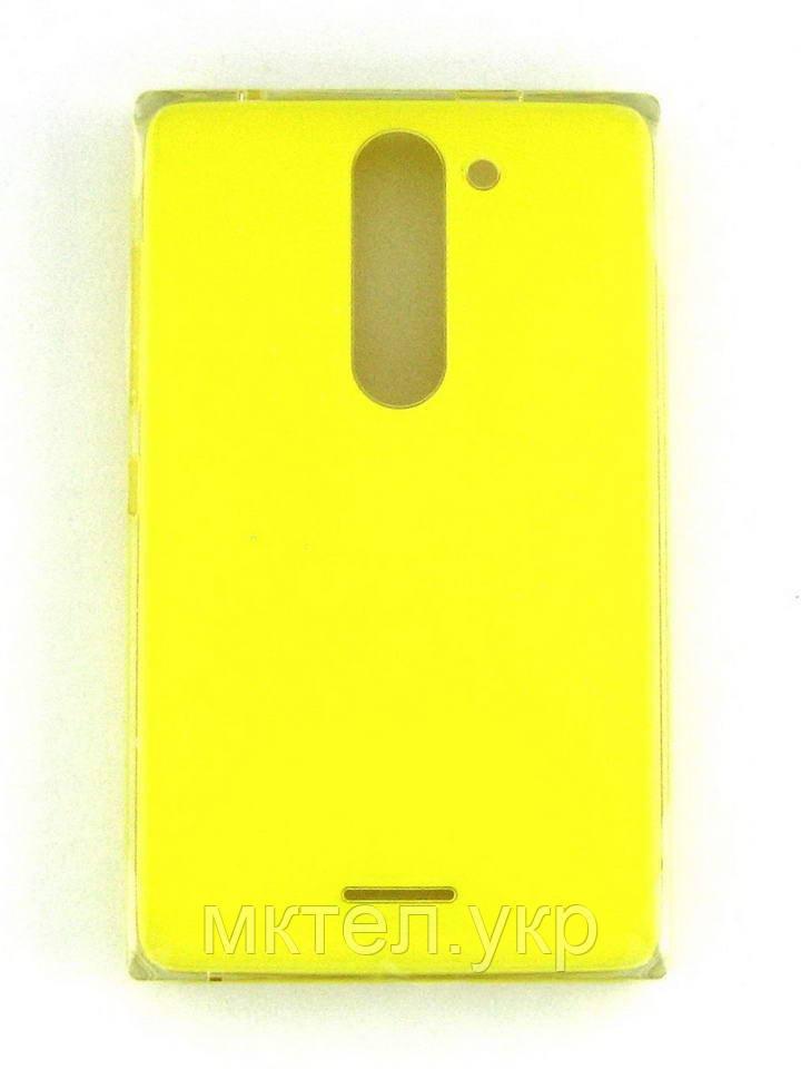 Крышка батареи Nokia Asha 502 Dual SIM, желтый Оригинал #02503V5