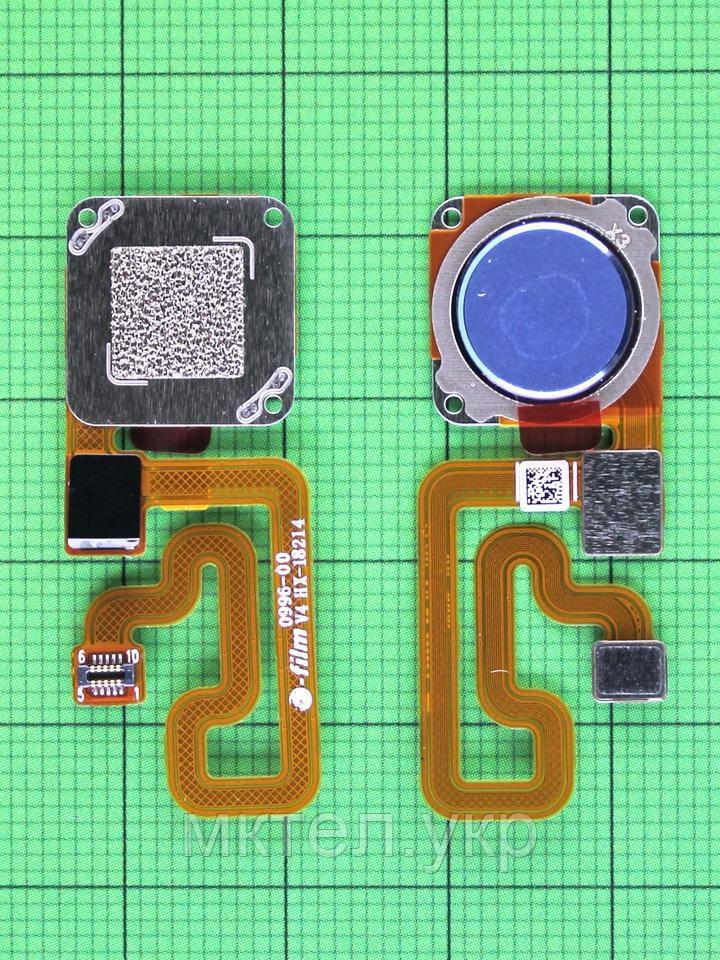 Шлейф сканера отпечатков пальца Xiaomi Redmi 6, синий Оригинал