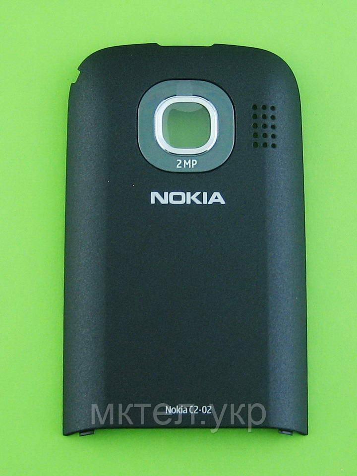 Крышка батареи Nokia C2-02, черный Оригинал #0259069