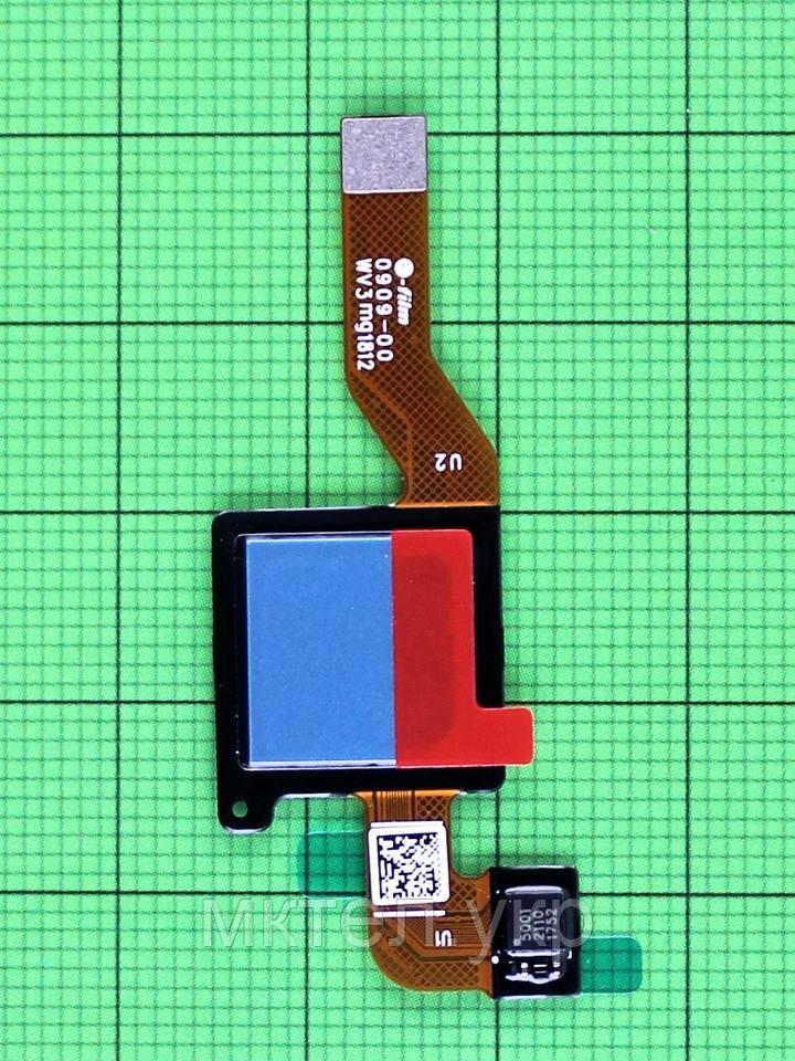 Шлейф сканера отпечатков пальца Xiaomi Redmi Note 5, синий Оригинал
