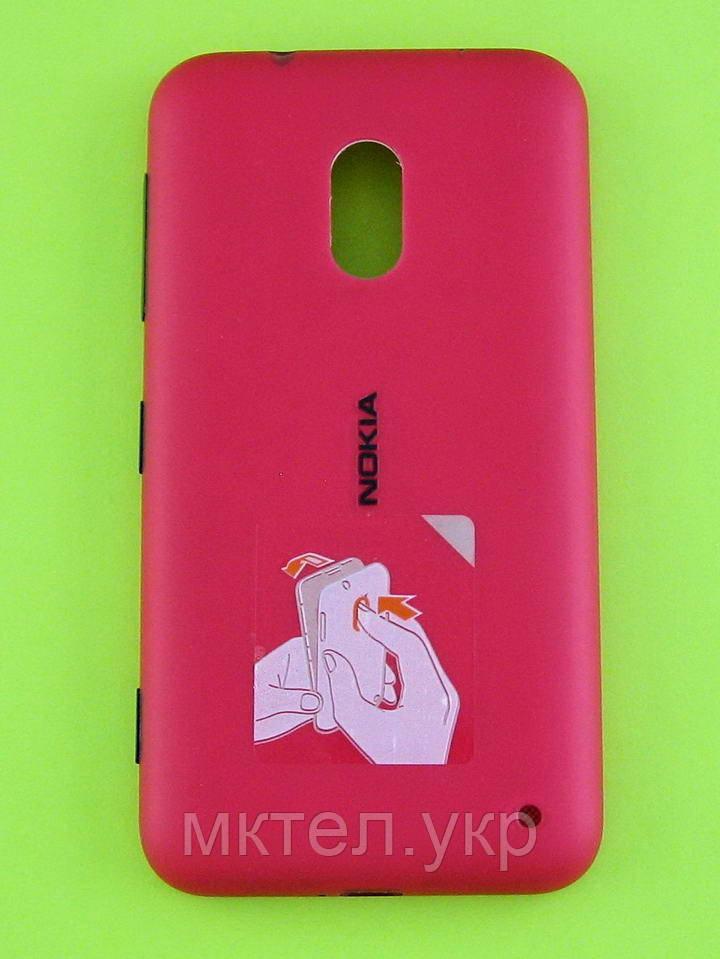 Крышка батареи Nokia Lumia 620 в сборе, красный Оригинал #02500T1