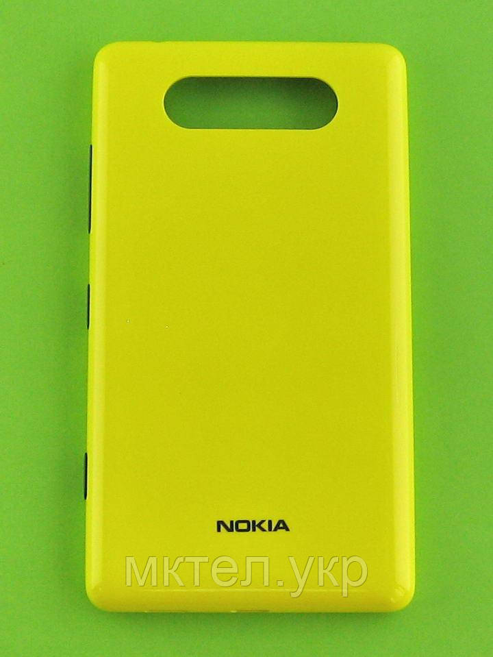 Крышка батареи Nokia Lumia 820, желтый Оригинал #0259968