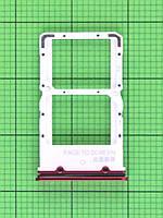 Держатель SIM карты Xiaomi Mi 9T красный Оригинал #4810964000L6