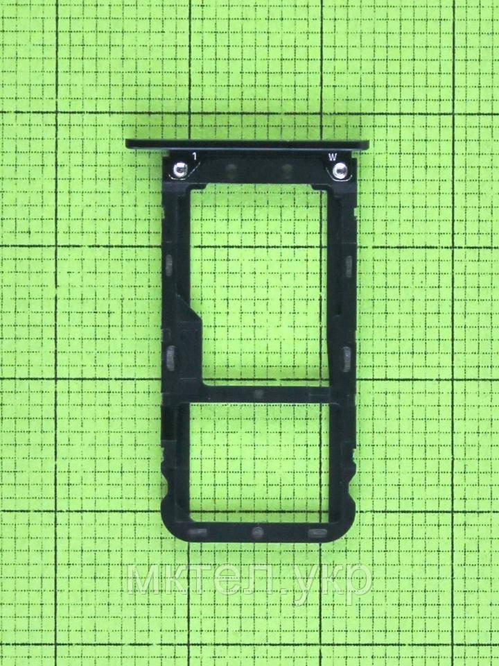 Держатель SIM карты Xiaomi Mi A1, черный Оригинал