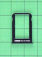 Держатель SIM карты Xiaomi Mi Note 3, черный Оригинал
