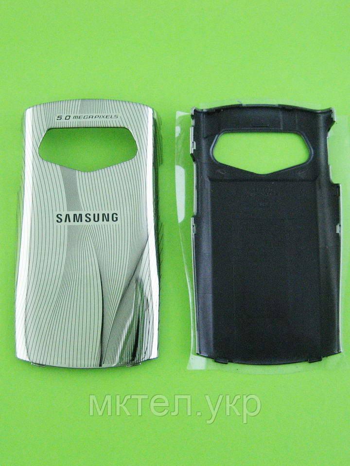 Крышка батареи Samsung S5550 Shark 2, серебристый Оригинал #GH98-15864A