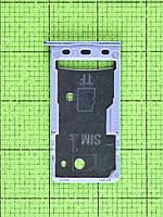 Держатель SIM карты Xiaomi Redmi 5A гибридный, серый Оригинал