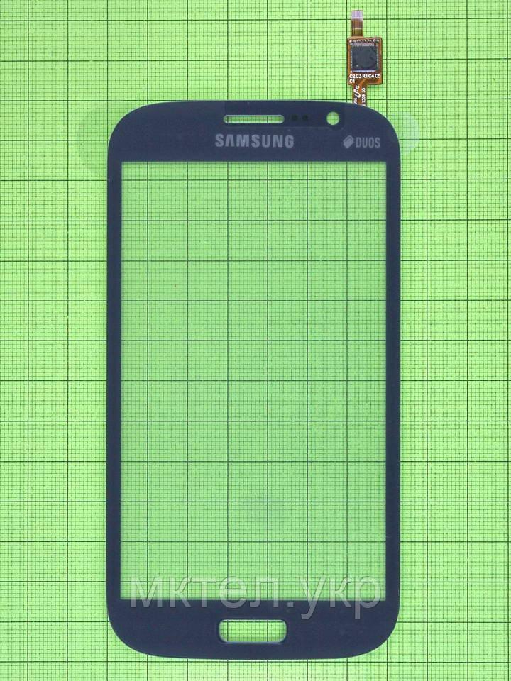 Сенсор Samsung Galaxy Grand Duos i9082, синий self-welded
