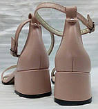 Босоножки женские кожаные маленького размера от производителя модель О-1014М, фото 5