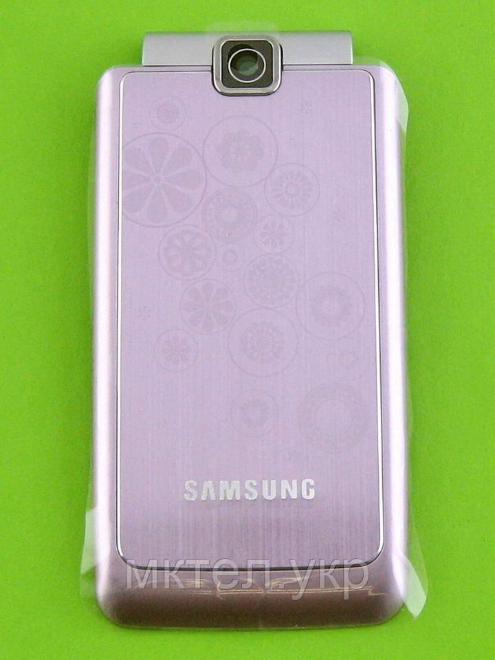 Наружная панель верхней крышки Samsung S3600, розовый, Оригинал #GH98-15555A