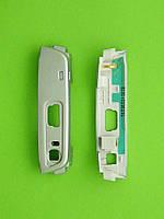 Панель антенны Nokia N95, нижняя, серебристый, Оригинал #5650658