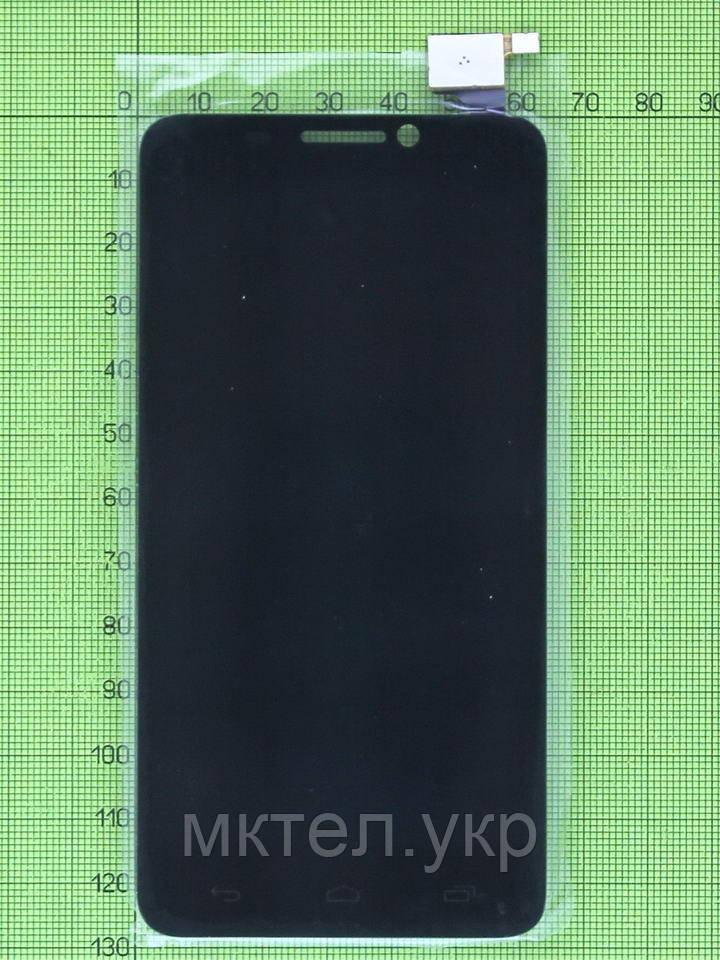 Дисплей Alcatel One Touch Idol 6030 с сенсором, черный self-welded