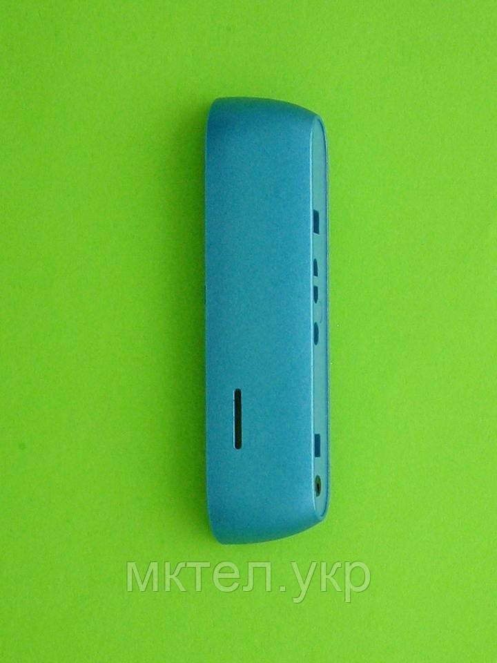 Панель торцевая Nokia E7, нижняя, голубой Оригинал #9445648