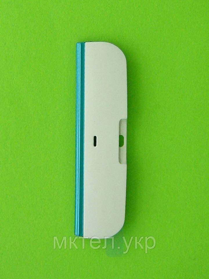 Панель торцевая Nokia X6-00, нижняя, белый, Оригинал #0255106