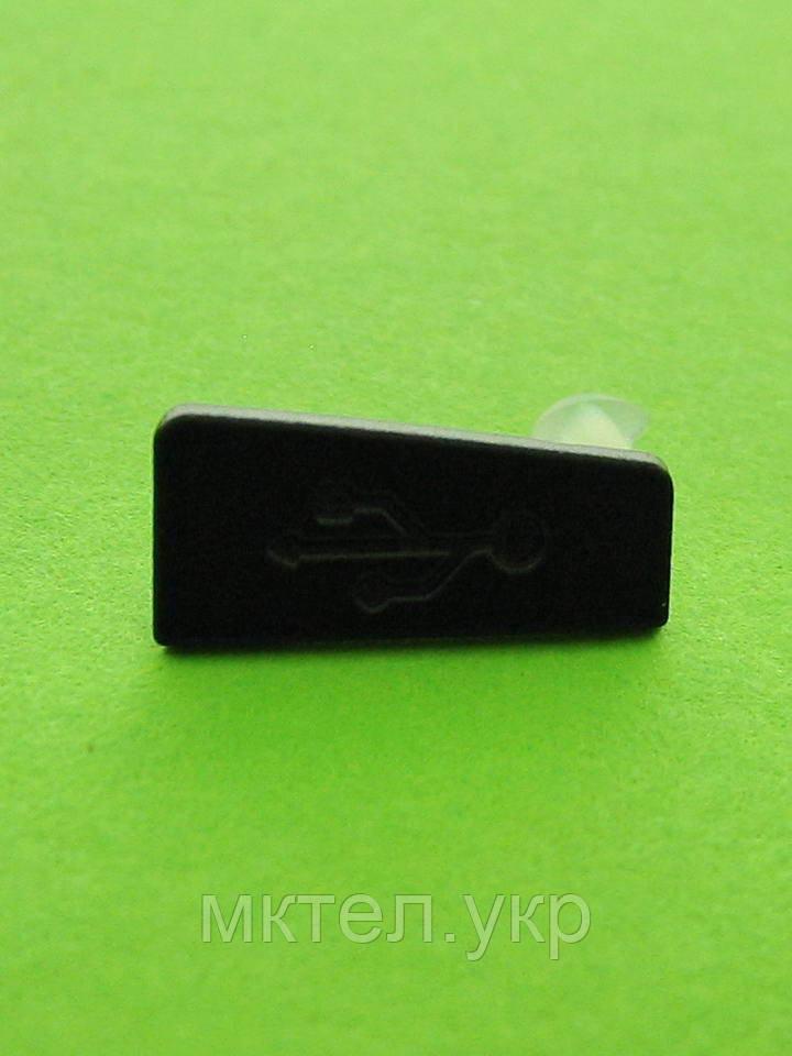 Заглушка разъема USB Nokia E5, черный Оригинал #9904428