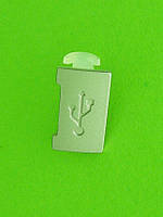 Заглушка разъема USB Nokia X3-00, серебристый Оригинал #9444678