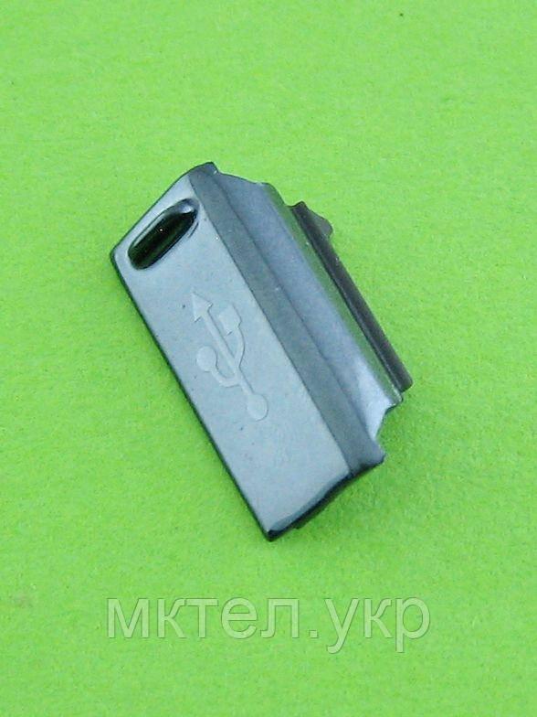 Заглушка Разъема USB Samsung Galaxy Ace S5830, черный Оригинал #GH72-62115A