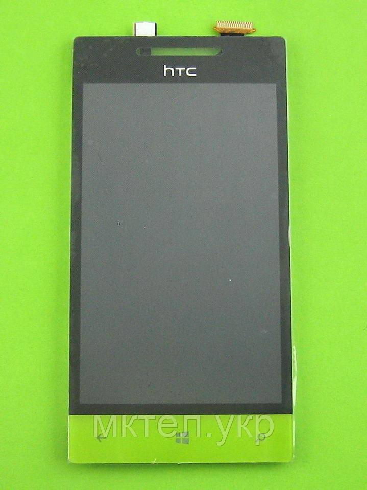 Дисплей HTC 8S Rio A620e с сенсором, желтый self-welded