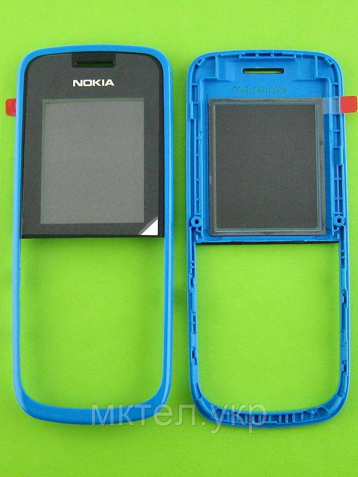 Передняя панель Nokia 109, голубой Оригинал #02502L2