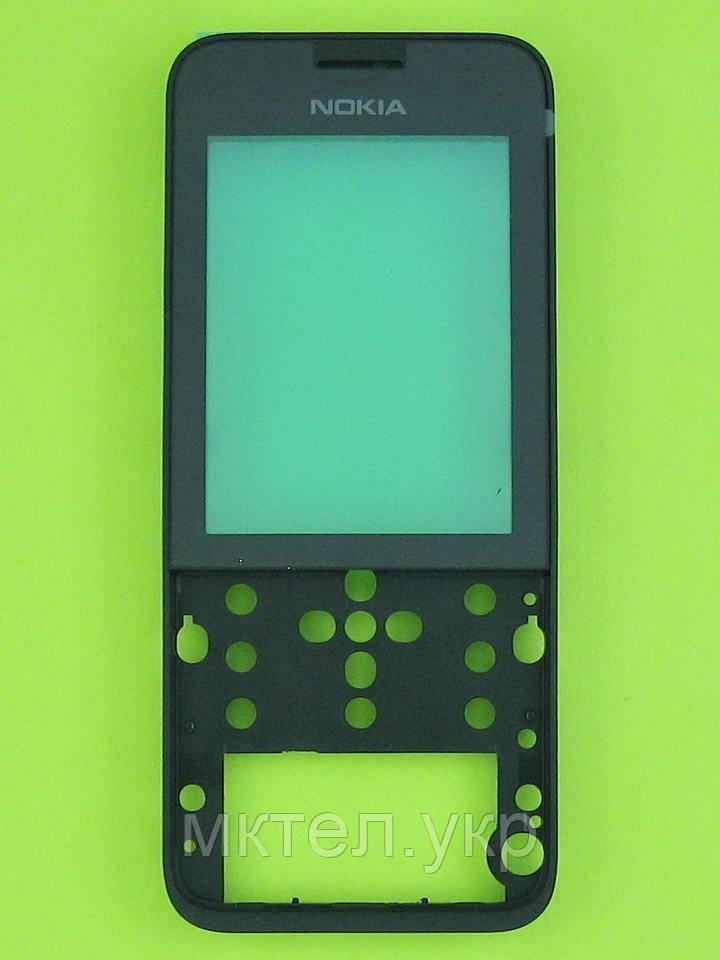 Передняя панель Nokia 208 Dual SIM, черный Оригинал #02504G9