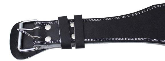 Пояс для тяжелой атлетики кожаный SportVida SV-AG0059 (XXL) Black, фото 2
