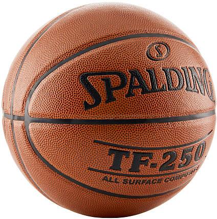 Мяч баскетбольный Spalding TF-250 IN/OUT Size 7, фото 2