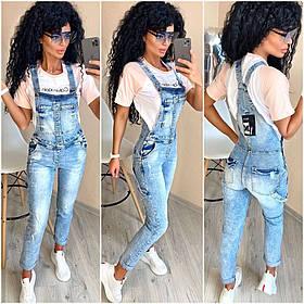 Комбинезон женский джинсовый,