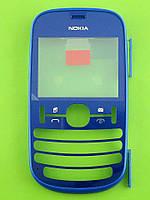 Передняя панель Nokia Asha 200, синий Оригинал #0258871