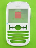 Передняя панель Nokia Asha 201, белый Оригинал #0259472