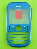 Передняя панель Nokia Asha 201, бирюзовый, Оригинал #0259321