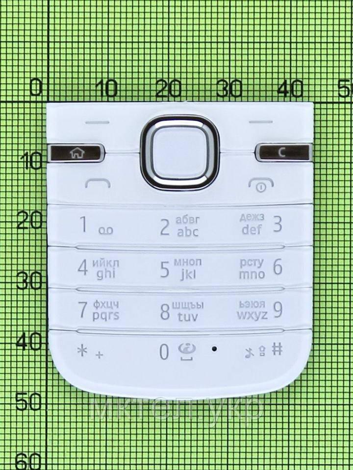 Клавиатура Nokia 6730 classic, белый Оригинал #9790M57