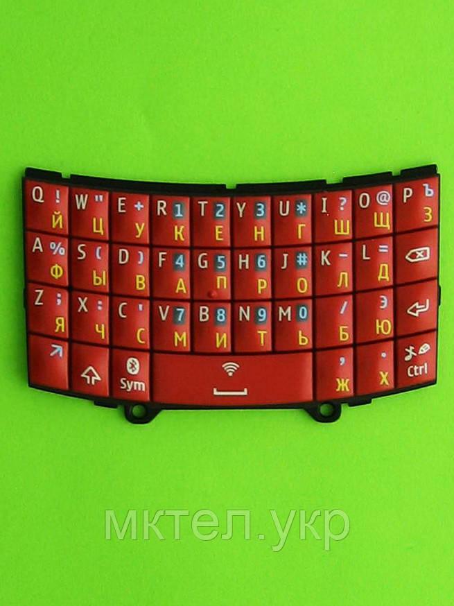 Клавиатура Nokia Asha 303, красный Оригинал #9793D00