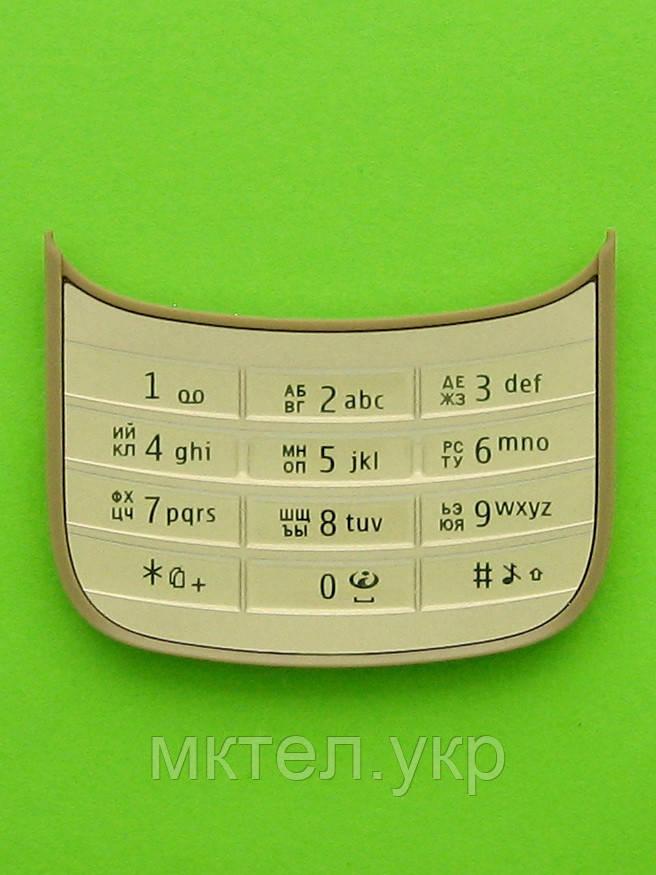 Клавиатура Nokia C2-03, золотистый Оригинал #9792Q75