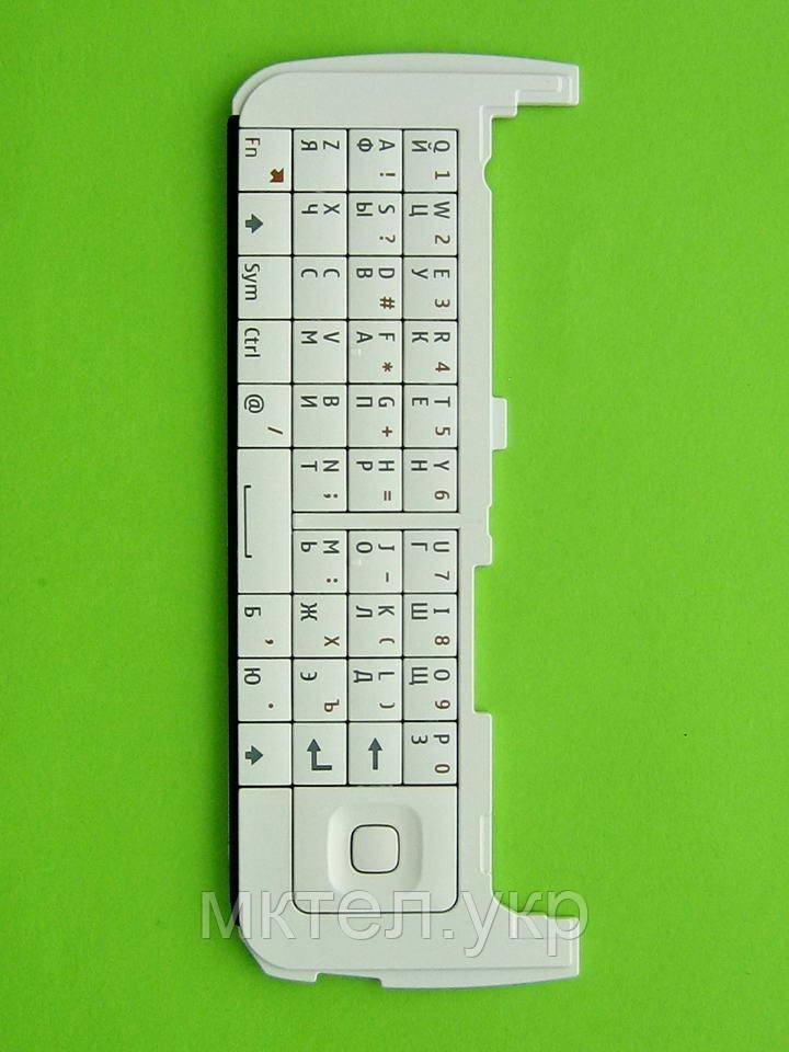 Клавиатура Nokia C6-00 qwerty, белый Оригинал #9791M29