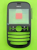 Передняя панель Nokia Asha 201, черный, Оригинал #0259318