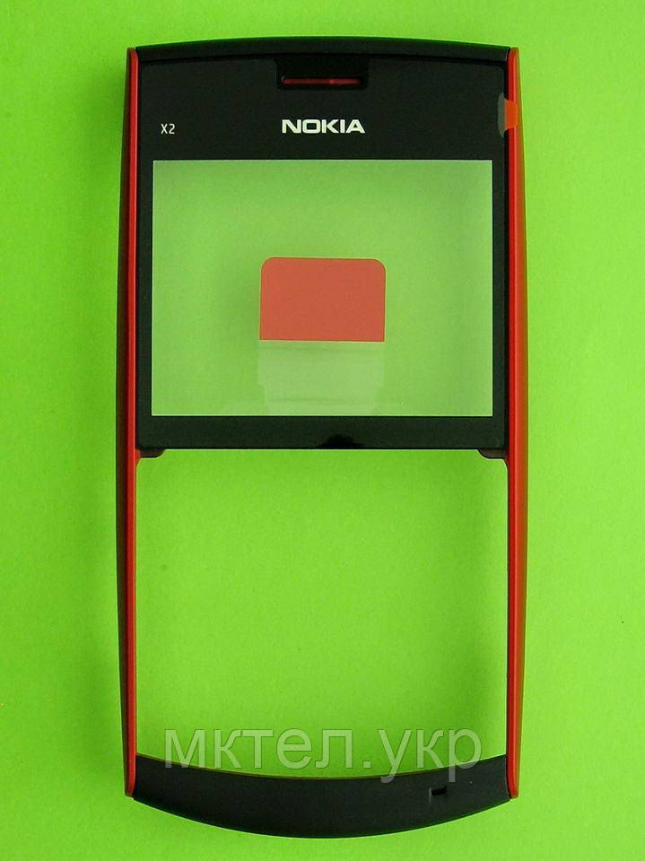 Передняя панель Nokia X2-01, черный Оригинал #0258008