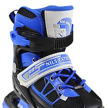 Роликовые коньки Nils Extreme NA0328A Size 30-33 Black/Blue, фото 3