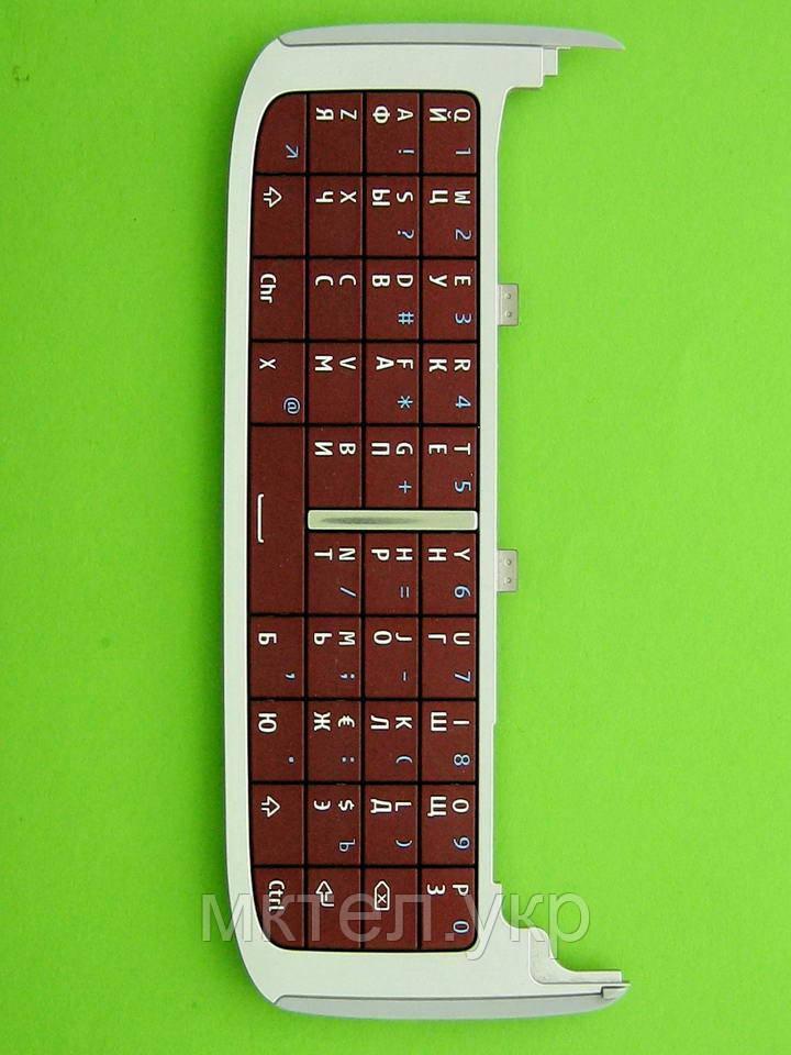 Клавиатура Nokia E75 qwerty, красный Оригинал #9794954